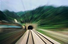 Икривление Времени и пространства при въезде в горный туннель